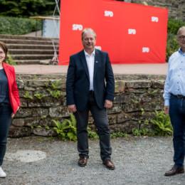 Claudia Schüßler, Henning Schünhof und Hauke Jagau