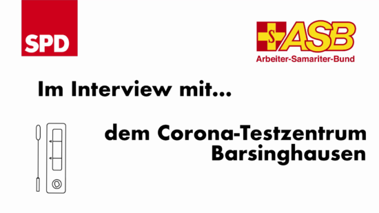 Interview mit dem ASB Team vom Testzentrum Barsinghausen