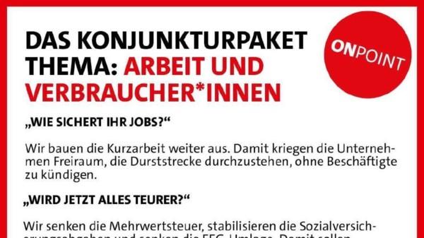 Konjunkturpaket: Arbeit und Verbraucher*innen 2
